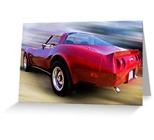 Red 81 Vette Greeting Card