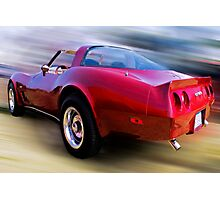 Red 81 Vette Photographic Print