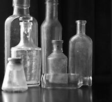 Seven Glass Bottles by Clare Colins