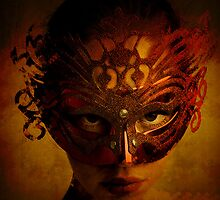 Bal Masque - Masked Portrait Art by Galen Valle