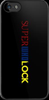 SuperWhoLock iPhone Case 1 by rycbar321