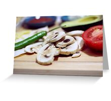 Mushrooms and other vegetables Greeting Card