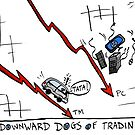 Tata and PC Downward Stocks Caricature by Binary-Options