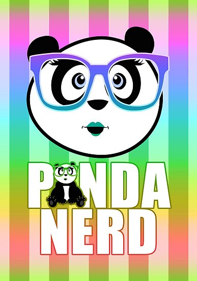 Panda Nerd Girl - Rainbow by Adamzworld