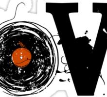 Love Vinyl Records - Grunge Vintage T Shirt Sticker