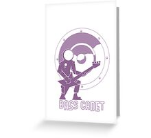 Bass Cadet with Speaker Amp Moon Greeting Card
