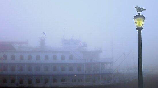 Ferry in the Fog by David Denny