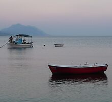 Evia, fishing boats by athinaf