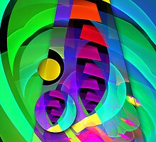The Tower, Fractal Abstract art by walstraasart