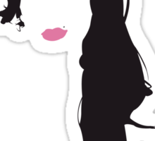 Amy Winehouse - Minimal Hair by Posteritty Sticker