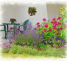Patio Garden by Kenneth Hoffman