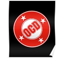 OCD Red Logo Poster
