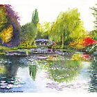 Etang aux Nympheas: Monet's Waterlily Lake at Giverny by Dai Wynn