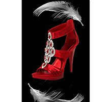 。◕‿◕。CLASSY RED SHOE WITH A FEATHERS TOUCH IPHONE CASE。◕‿◕。 by ✿✿ Bonita ✿✿ ђєℓℓσ