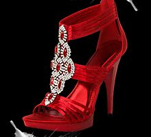 ♥•.¸¸.ஐCLASSY RED SHOE WITH A FEATHERS TOUCH PICTURE/ CARD♥•.¸¸.ஐ by ✿✿ Bonita ✿✿ ђєℓℓσ