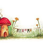 Shroom House #2 by Rebecca Barkley