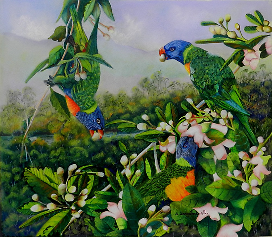 Blossom Time  (sold  to Calgary Canada) 2013 by Sandra  Sengstock-Miller
