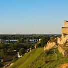 Belgrade panoramic view toward Danube river by kirilart