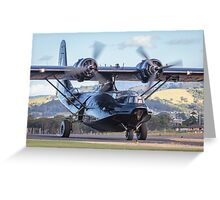 HARS PBY Catalina taxi Greeting Card
