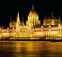 Budapest Parliament Night Shot by kirilart
