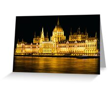 Budapest Parliament Night Shot Greeting Card