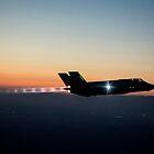 F-35 Lightning ll night flight by spitfirebbmf
