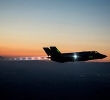 F-35 Lightning ll night flight by spitfirebbmf