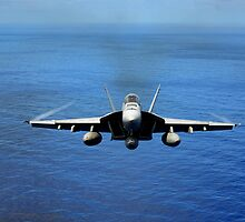 F/A-18E Super Hornet from the Tophatters of Strike Fighter Squadron (VFA) 14  by spitfirebbmf