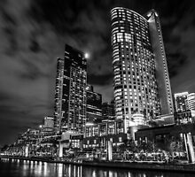 Crown Casino B & W by Adis Zornic