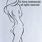 Sketch of a Nude Woman by Anna Androsovski