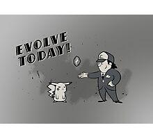 (I Don't Want to) Evolve Today! (Pokemon/Bioshock) Photographic Print