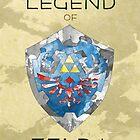 The Legend of Zelda - Hylian Shield by quigalchemist
