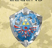 The Legend of Zelda - Hylian Shield by quigalchemist