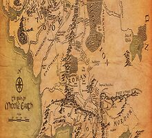 a middle earth map by BisKrome