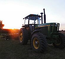 Tractor Morning by Keala