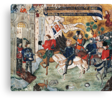 Joan of Arc entering castle of Loches to announce liberation of Orleans to Charles VII Canvas Print