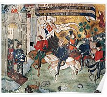 Joan of Arc entering castle of Loches to announce liberation of Orleans to Charles VII Poster