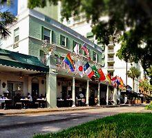 Breakfast on the Riverside Hotel Terrace by Tropical Sun