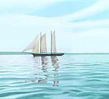 Sailing Ship Becalmed by Michael Holmes