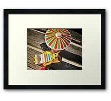 Pirate practice: Tanning Framed Print