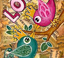 LOVE  by Lisa Frances Judd ~ QuirkyHappyArt