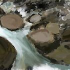 Creek- painting by Marcidog