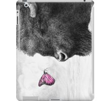 Bison and Butterfly (landscape format) iPad Case/Skin