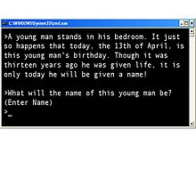 Homestuck Command Prompt by Kitsuneoflight