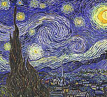 Starry Night (Vinceny Van Gogh Art Reproduction) by Roz Barron Abellera