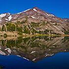 South Sister Reflected in Green Lake by DArthurBrown