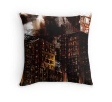 Abstract Cityscape Throw Pillow