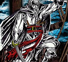 Pirate on a Devil Ship by American Artist