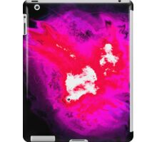 Pink and red phoenix with black background iPad Case/Skin