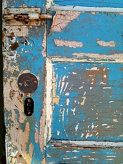 Old Blue Door by waddleudo